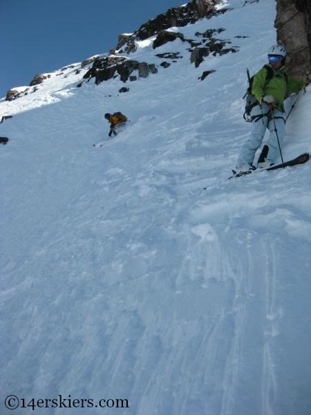 Andy Dimmen backcountry skiing on North Maroon.