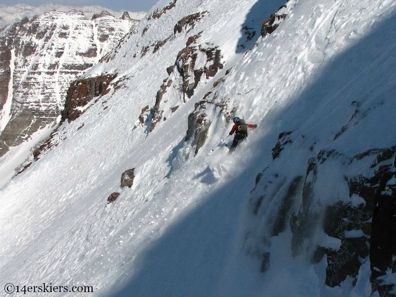 Joe Brannan backcountry skiing on North Maroon