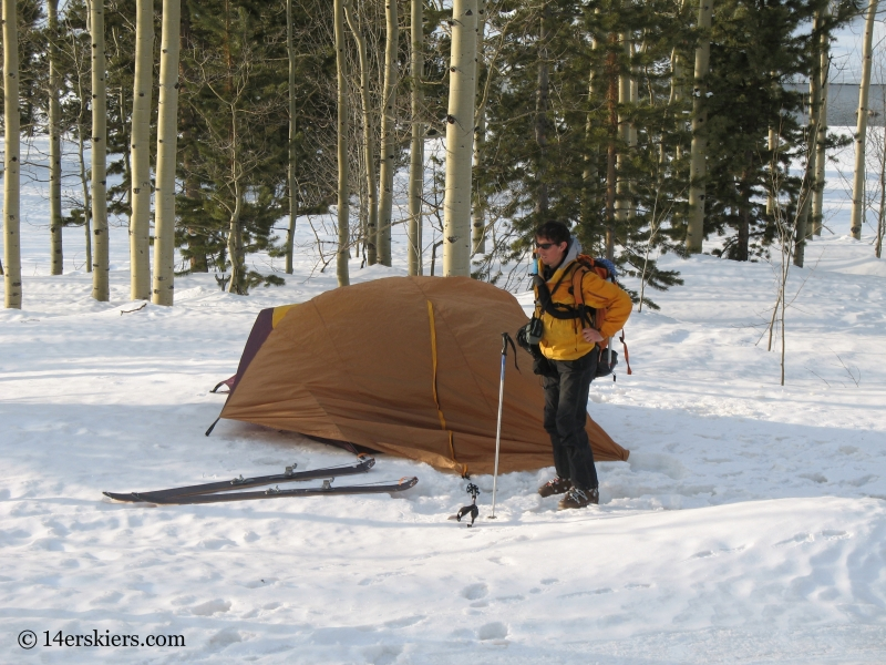 Snow-Camping near the Maroon Bells