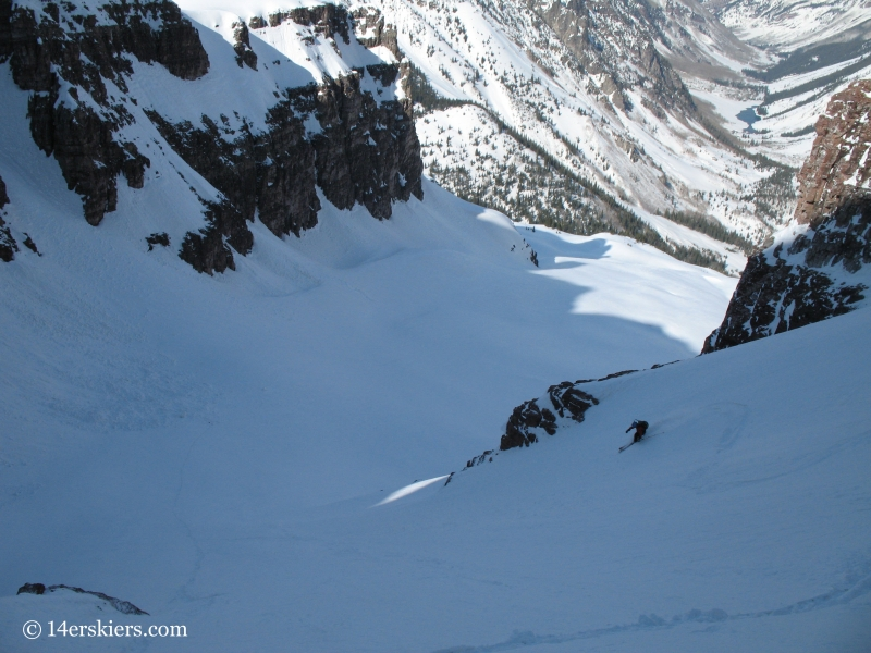 Joe Brannan backcountry skiing on North Maroon.