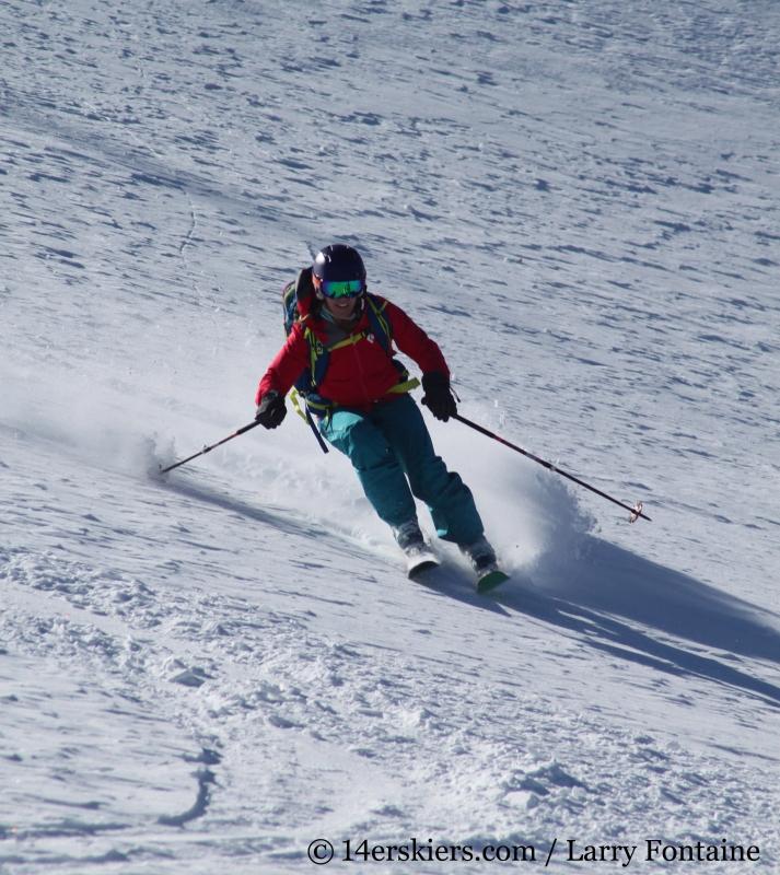 Brittany Walker Konsella backcountry skiing South Diamond Peak.