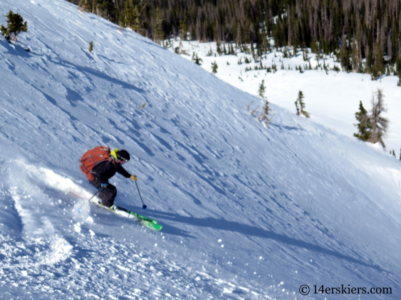 Larry Fontaine backcountry skiing South Diamond Peak.