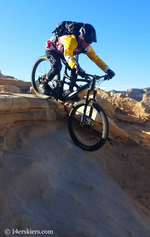 Larry Fontaine mountain biking Horsethief Loop in Fruita.