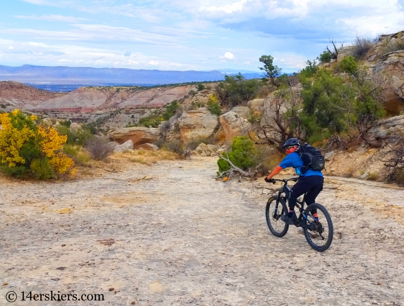 Larry Fontaine mountain biking the Ribbon Trail near Grand Junction.