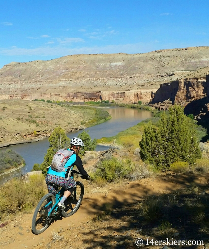 Brittany Konsella mountain biking Horsethief Bench Loop in Fruita.