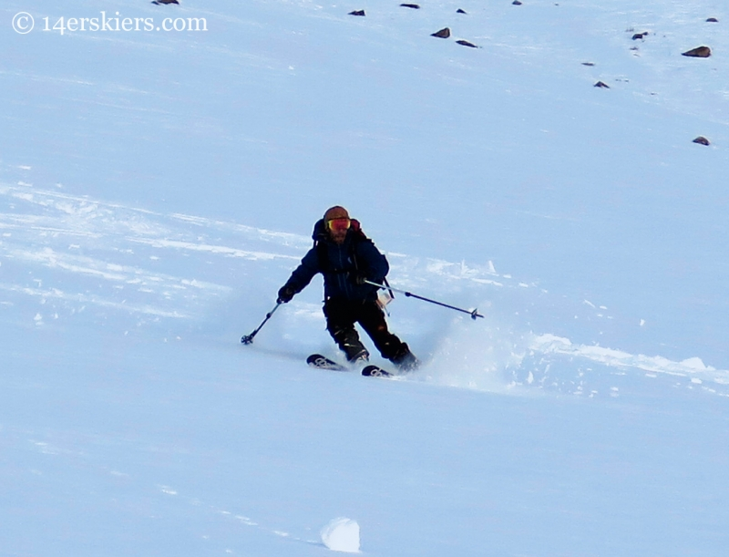 Ben McShan backcountry skiing Crested Butte
