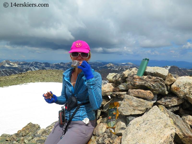 Natalie Moran on the summit of Oklahoma.