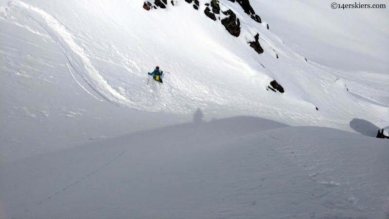 steep powder skiing