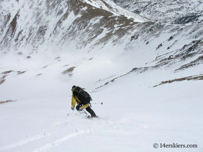 Frank Konsella backcountry skiing on Mount Belford.