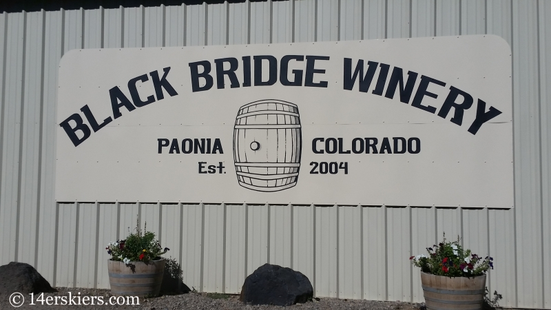 Black Bridge Winery near Paonia, CO.