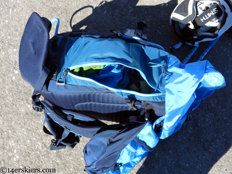 side access back pack