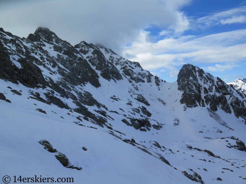 Backcountry skiing Peak C in the Gore Range.