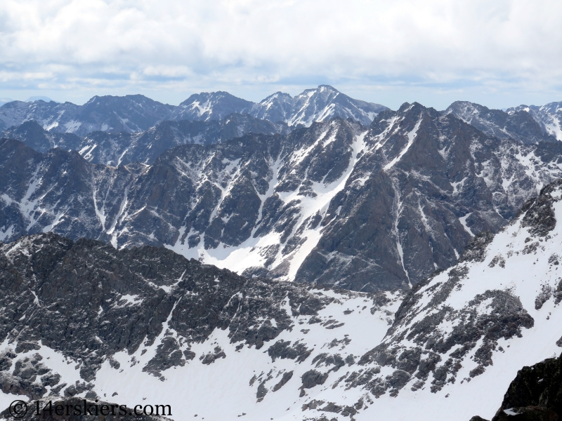 Views of the Gore Range from Peak C.