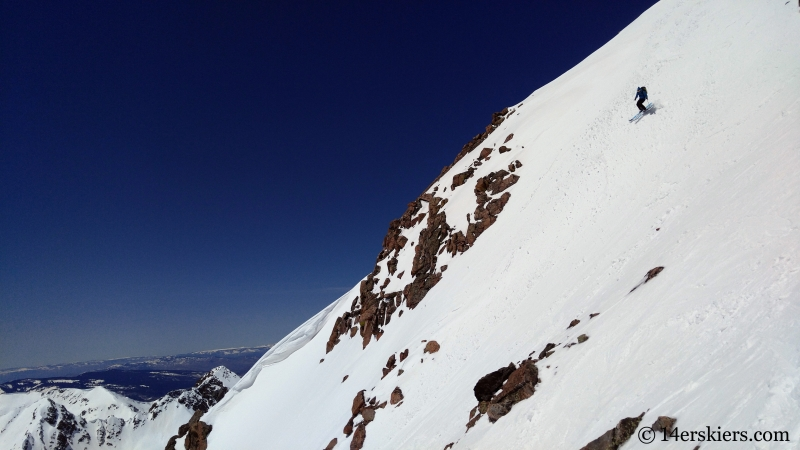 Backcountry skiing West Partner Peak, Peak U.