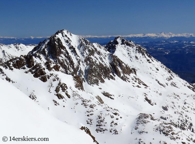Peaks R & S in the Gore Range.