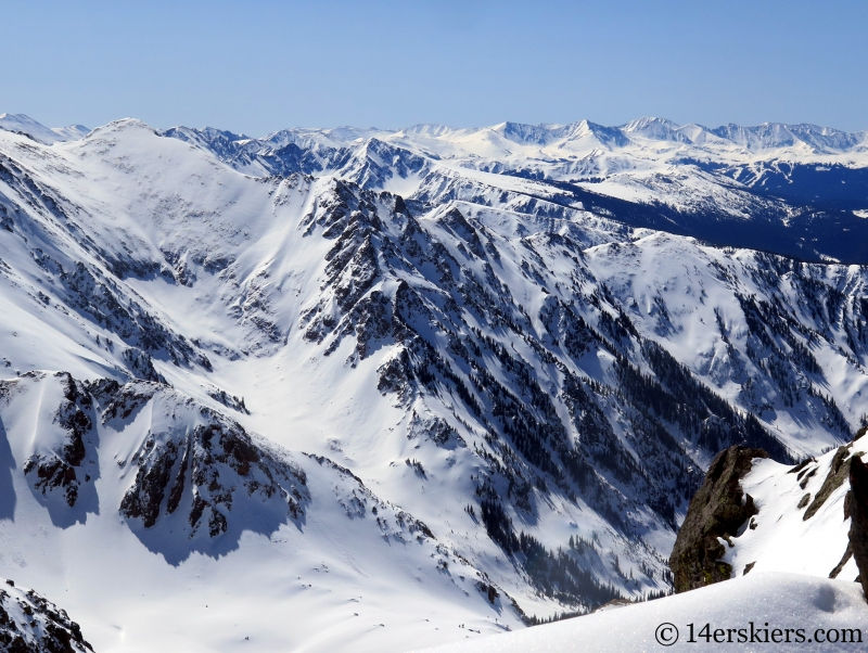 Solitude, Climbers Point, & Skiers Point in the Gore Range.