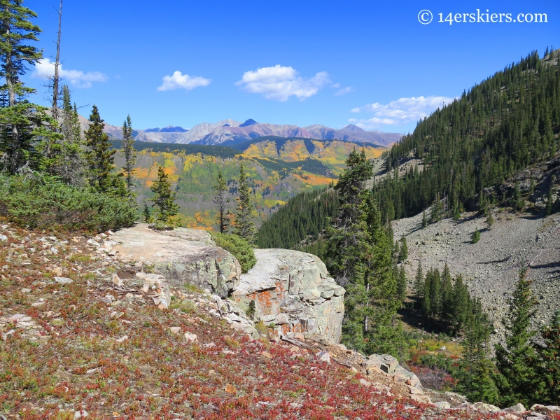 View from Peeler Lakes trail near Crested Butte