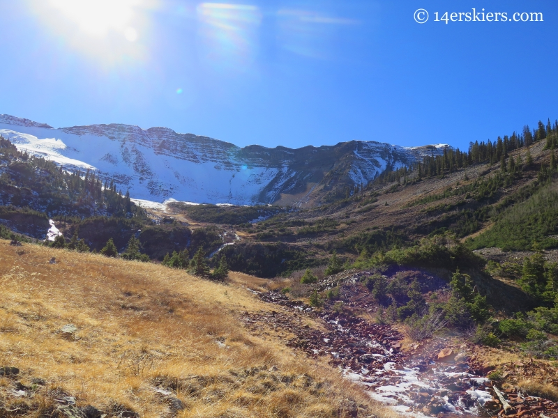 Redwell Basin on Mount Emmons near Crested Butte