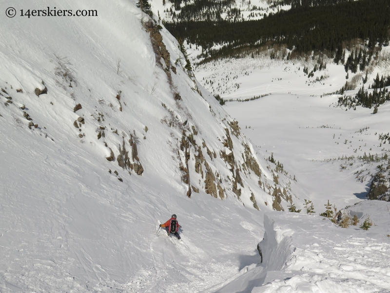 Frank skiing Axtell while backcountry skiing in Crested Butte