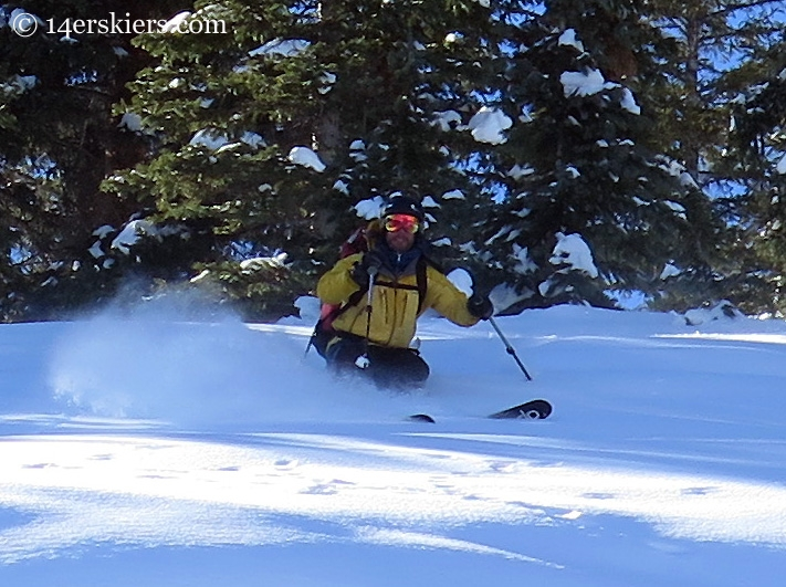 Ben McShan backcountry skiing in Crested Butte