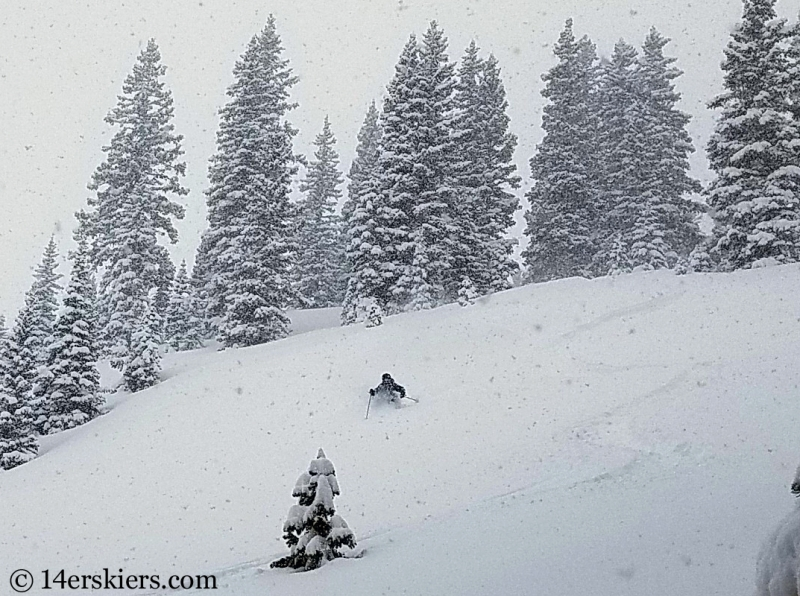 skiing in Crested Butte backcountry