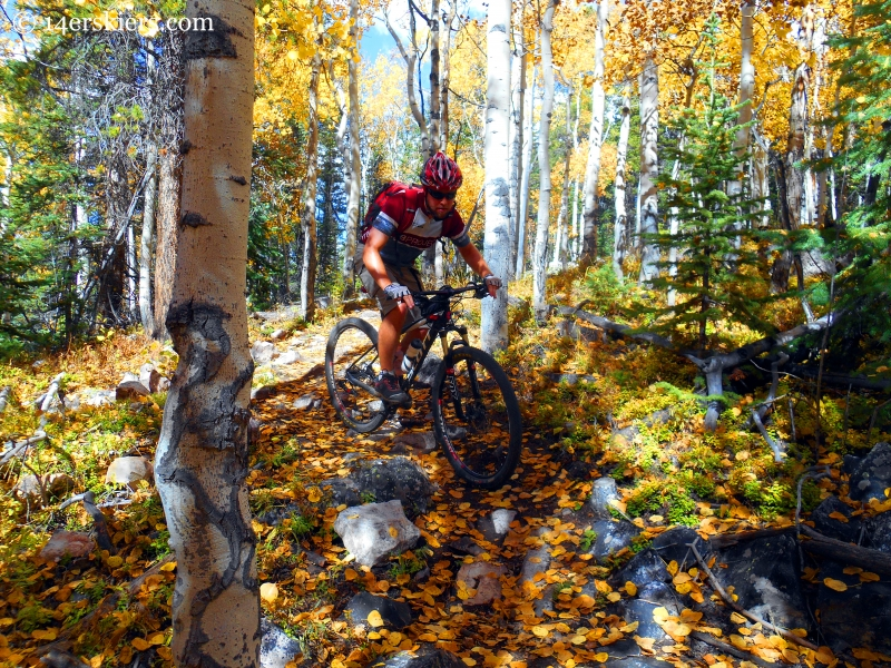 409 - Point Lookout - 409.5 - favorite fall mountain bike rides near Crested Butte.