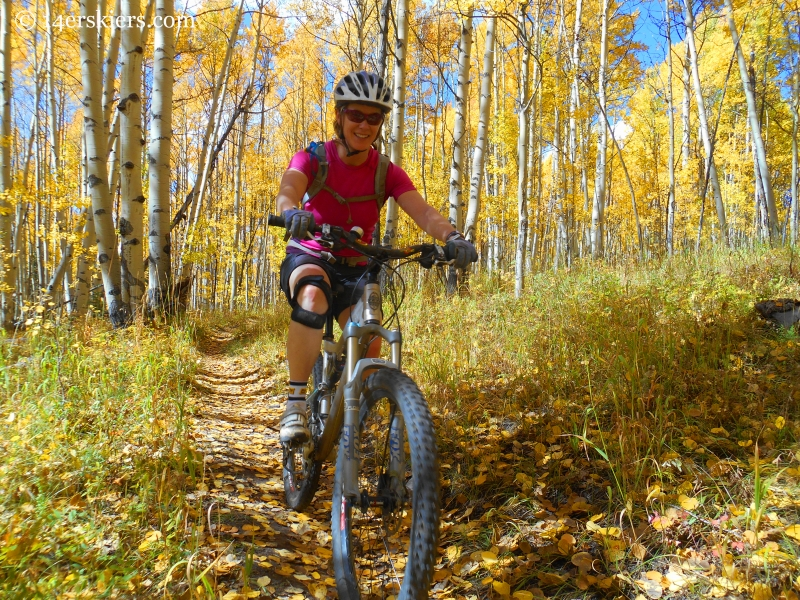 Mountain biking 409 and a half in Crested Butte
