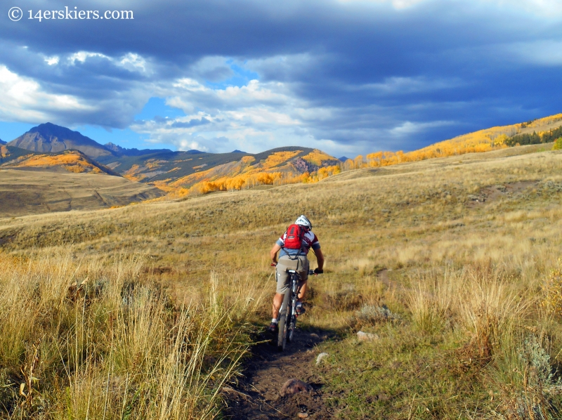 Mountain biking Point Lookout and 409.5 near Crested Butte, CO.