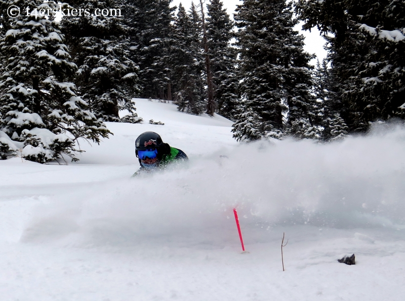 Alex Riedman powder skiing in the Crested Butte backcountry