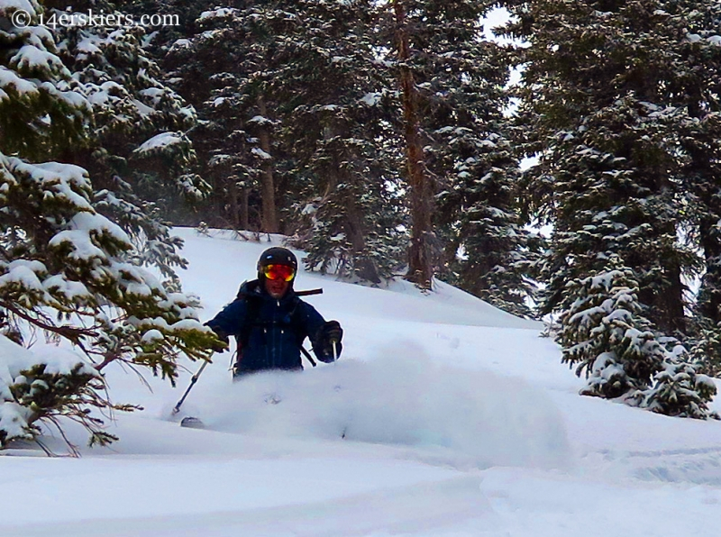 Ben McShan powder skiing in the Crested Butte backcountry