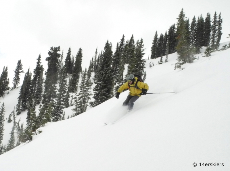 Backcountry skiing in November in Crested Butte.