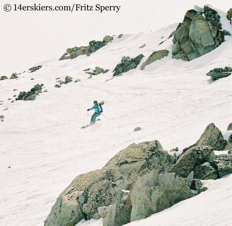 Brittany Konsella skiing Mount Princeton