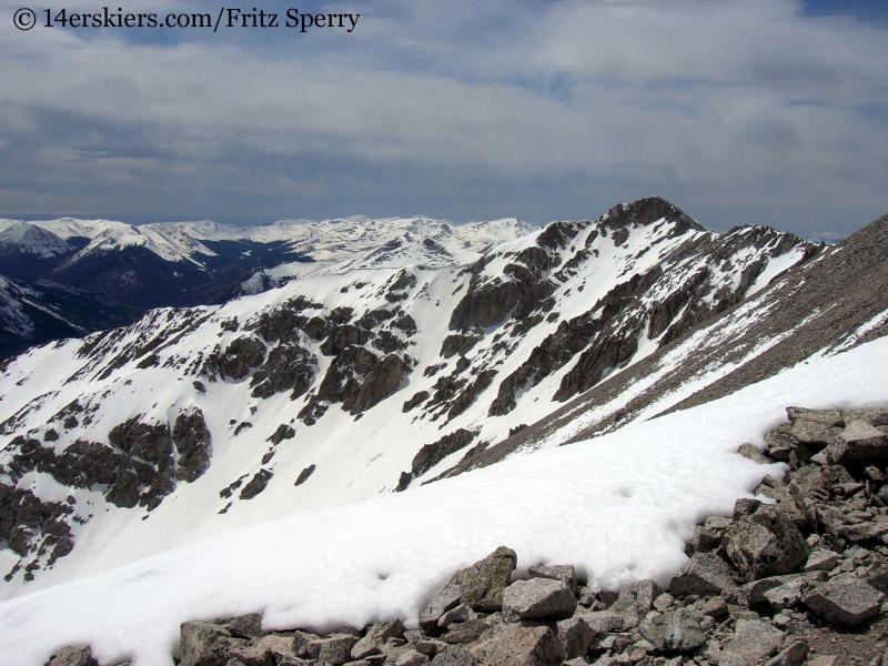 Views westward from Mount Princeton