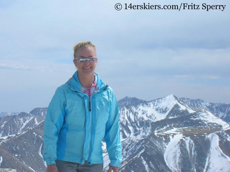 Brittany Konsella on the summit of Mount Princeton.