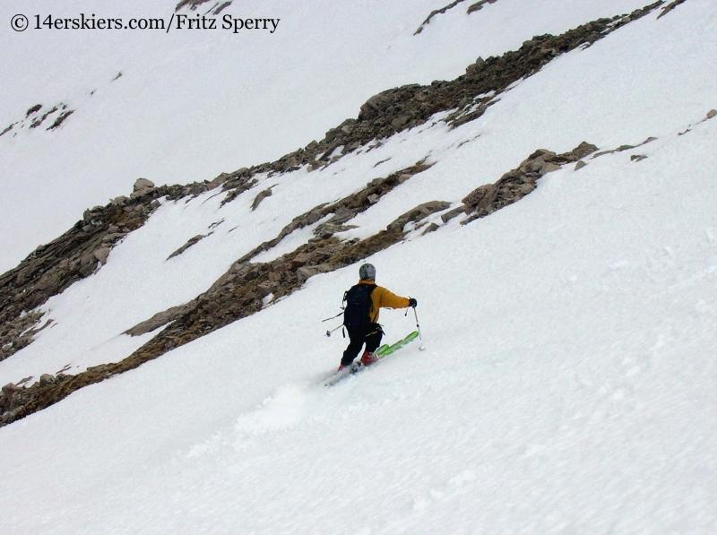 Fritz Sperry skiing Mount Princeton
