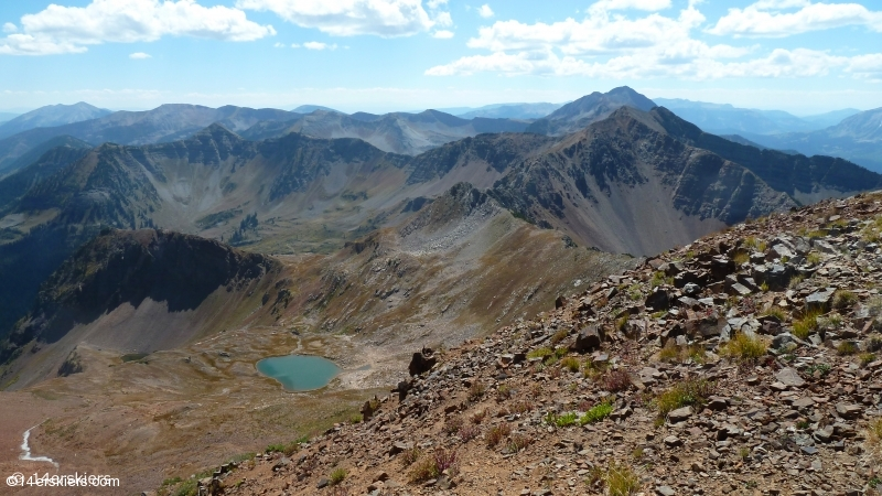 Hiking Purple and Augusta Peaks near Crested Butte, CO.