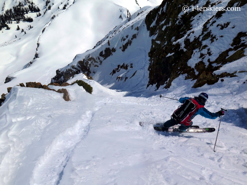 Brittany Konsella backcountry skiing in Crsted Butte.