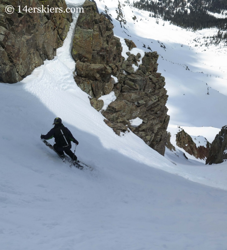 Susan Mol backcountry skiing in Crested Butte.