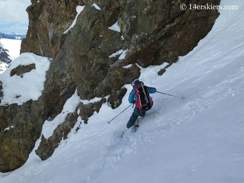 Brittany Konsella backcountry skiing in Crested Butte.