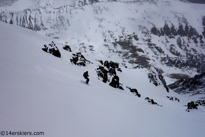 larry fontaine tenmile backcoutry skiiing route