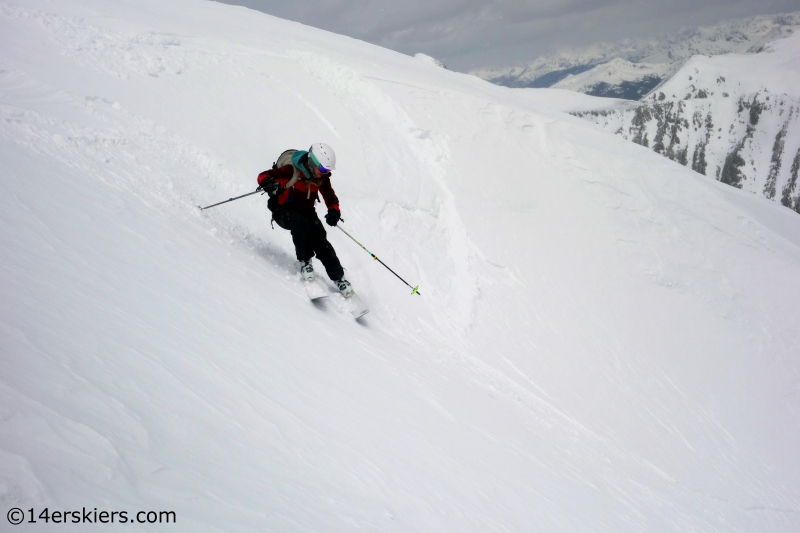 Brittany Konsella ski 14er