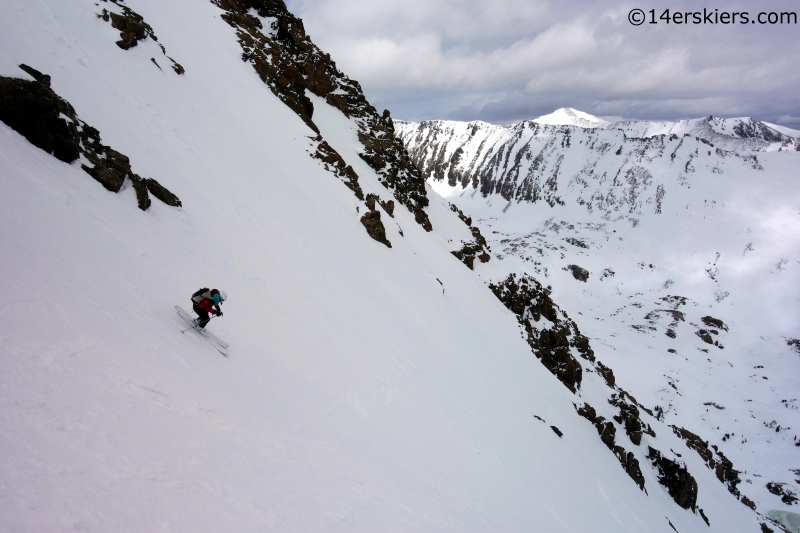 brittany konsella quandary couloir skiing
