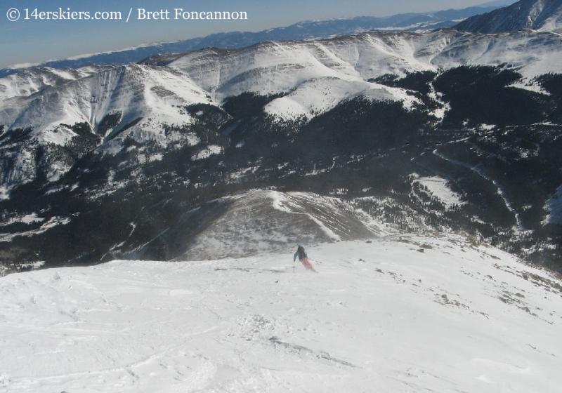 Brittany Konsella backcountry skiing Quandary Peak