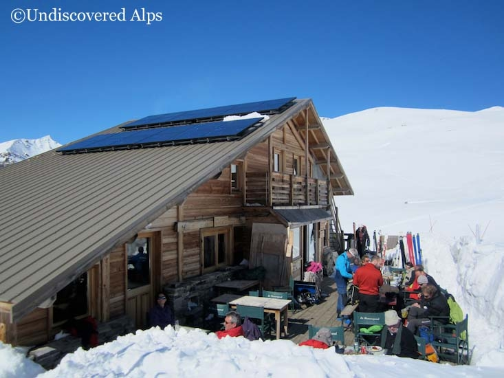 Refuge de la Blanche in the Queyras, ski touring