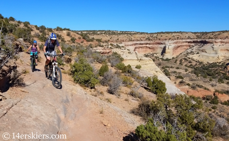 Mountain biking Rabbit Valley Western Rim Trail near Fruita.