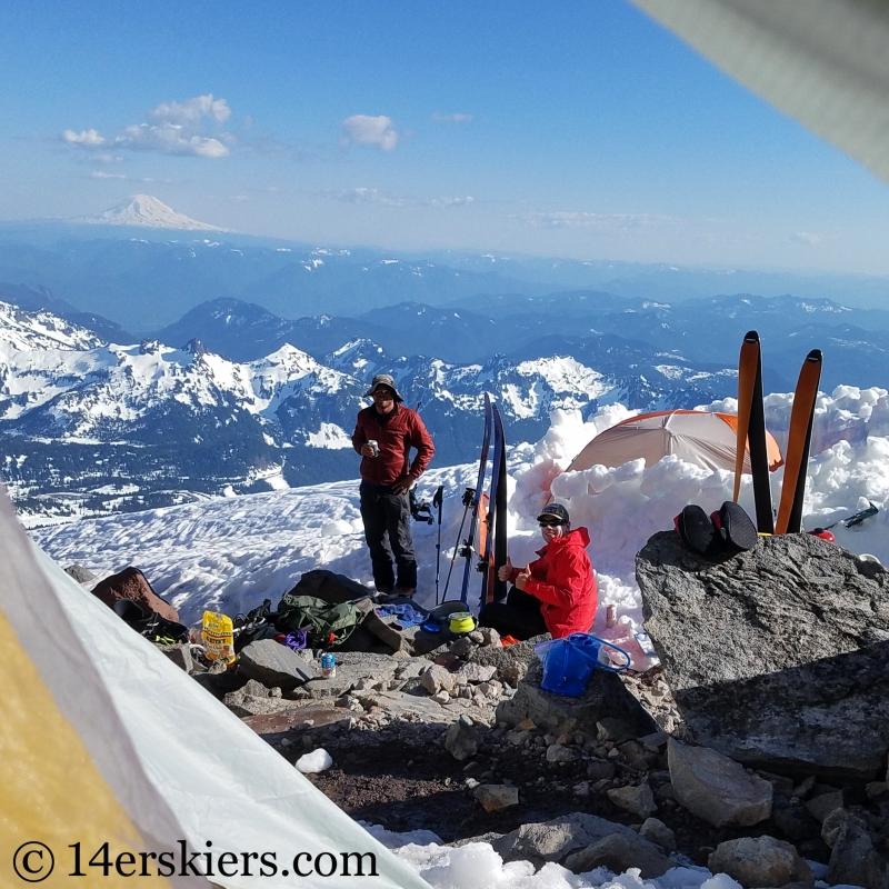 Basecamp on Mount Rainier.