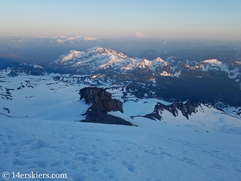 Sunset on Mount Rainier.
