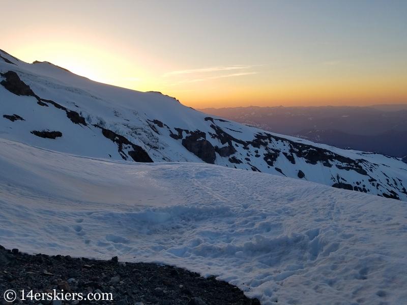 Sunrise on Mount Rainier.