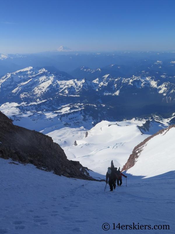 Climbing the Fuhrer Finger on Mount Rainier.
