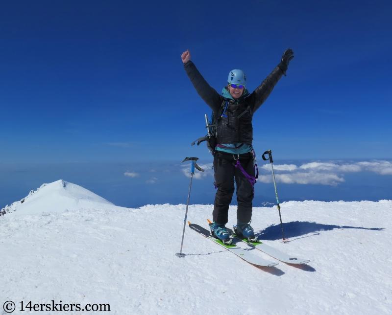 Brittany Konsella on the summit of Mount Rainier.